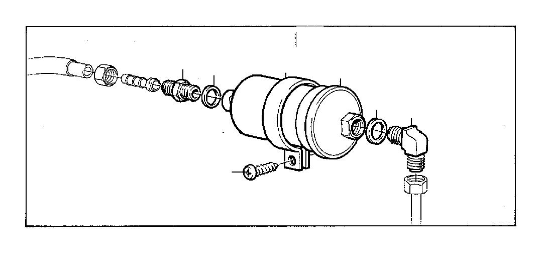 Volvo 260 Bracket. B19, B21. B27. Fuel Pipe. Fuel System