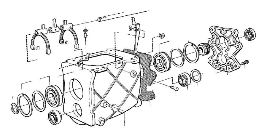 Volvo V70 XC E circlip. Gearbox, Transmission, Manual