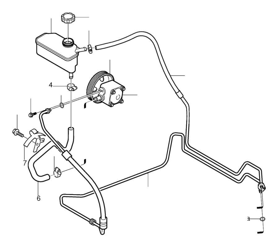 Volvo V70 Power Steering Reservoir. Pump, Equipment, Line
