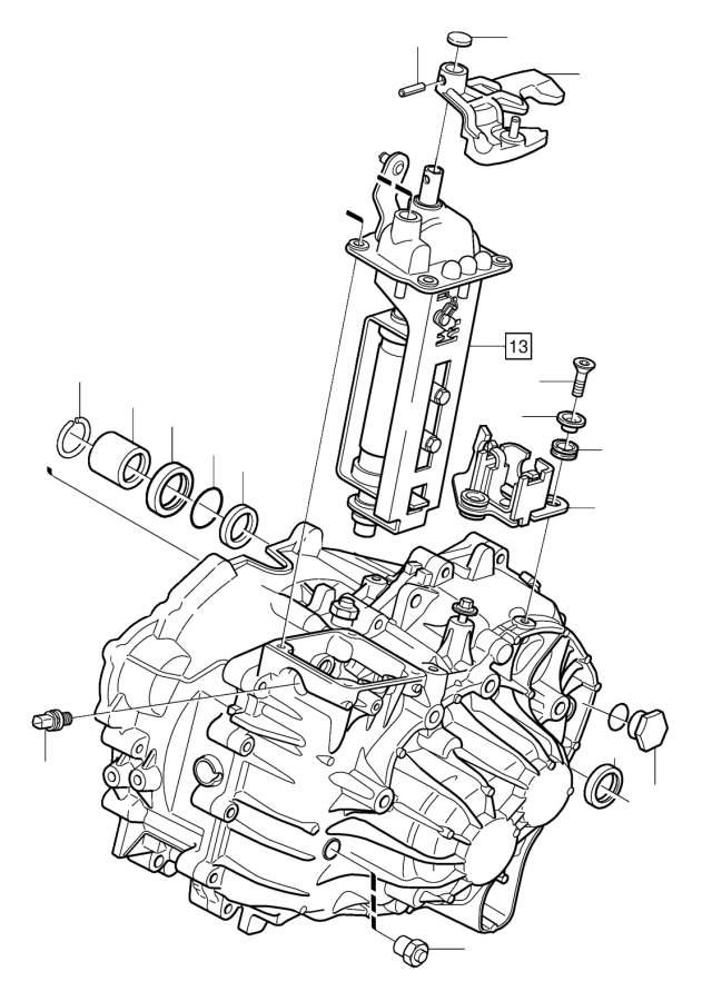 Volvo V70 Spring pin. Manual, Gearbox, Transmission