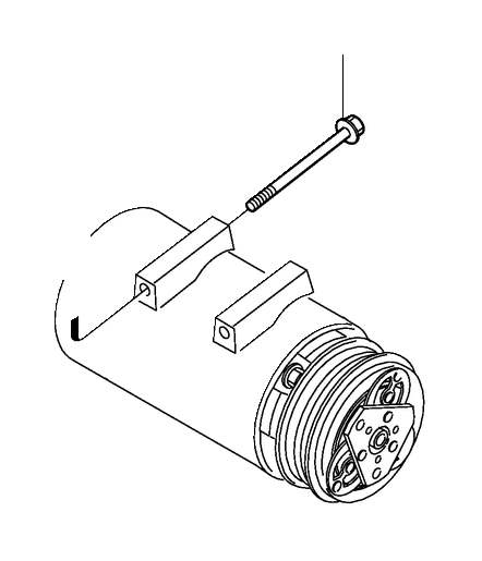 Volvo C70 Flange Screw. A.C. Auxiliary aggregate