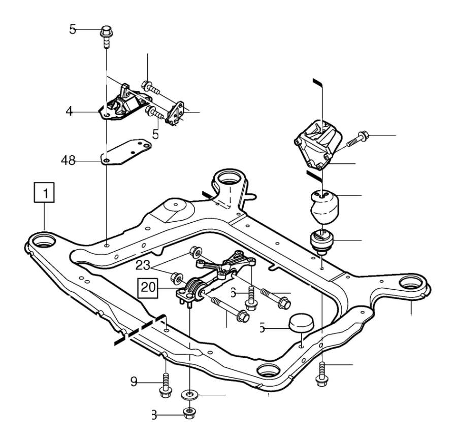 Volvo S80 Replacement Motor Mount. Engine Mounting. 6CYL