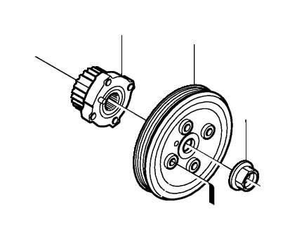 Volvo S60 Engine Timing Crankshaft Sprocket. PULLEY