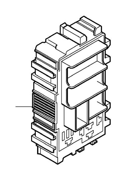 Volvo XC60 Relay Retainer. Relay and Fuse Box Cargo