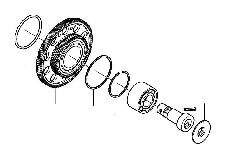 Volvo S80 Drive Gear Set. Bevel Gear. Transmission Gear