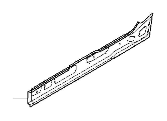 Volvo V50 Rocker Panel (Right). AWD. Floor section. 2WD