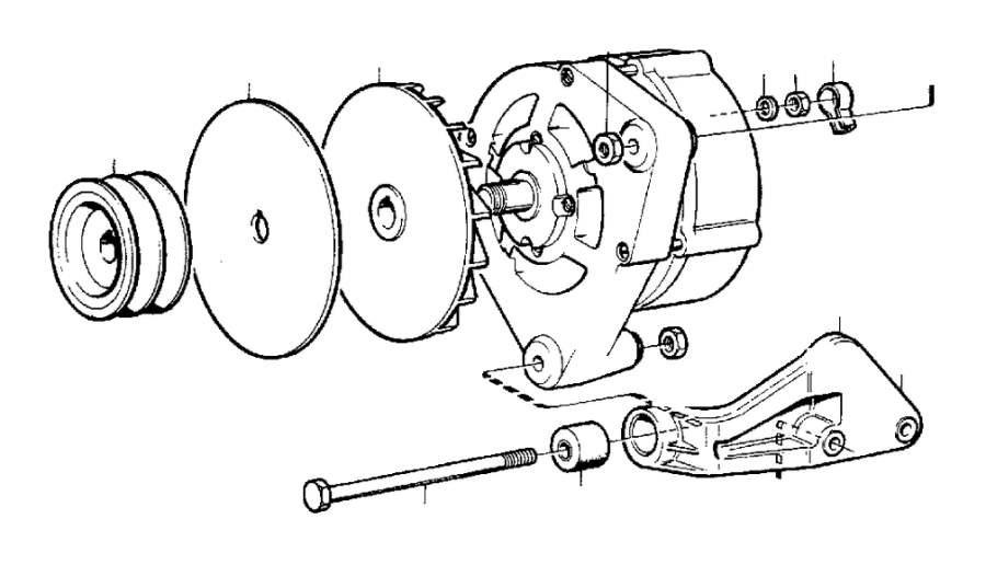 Volvo 240 Bracket. Alternator, Generator, Mounting