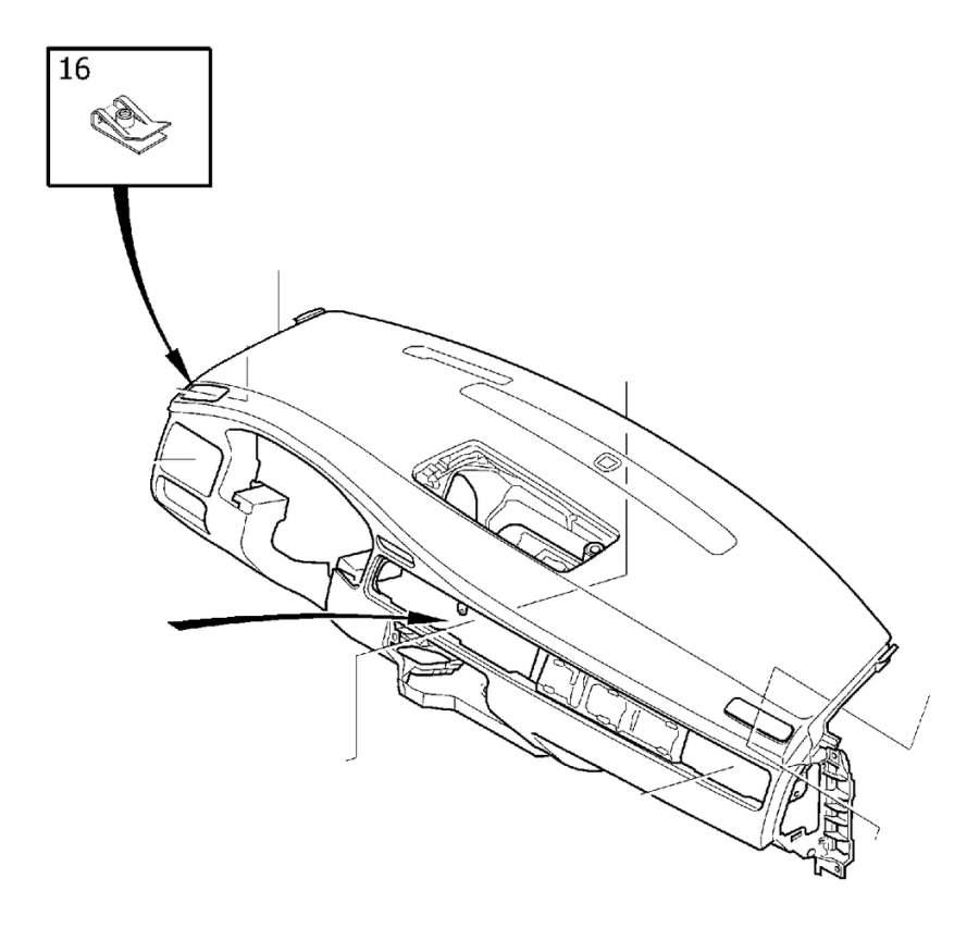 Volvo S80 Dashboard Panel (Front, Beige, Espresso, Brown