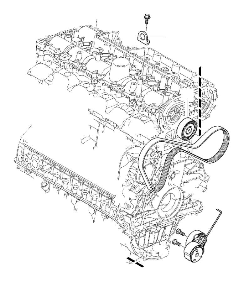 Volvo S80 Bracket. Auxiliary aggregate Suspension