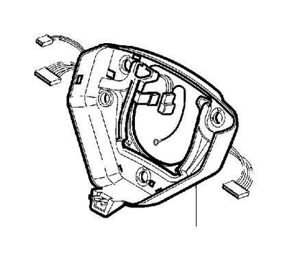 Volvo V50 Steering Wheel Wiring Harness. Steering Wheel, 3