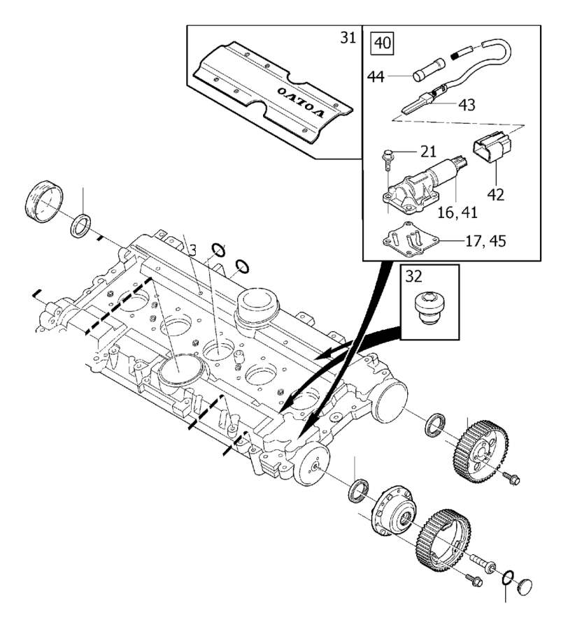 Volvo S40 Engine Camshaft Seal. Sealing Ring. Without