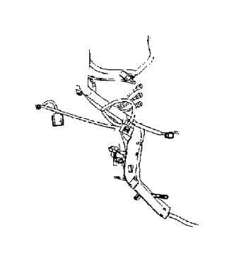 Volvo S80 Cable harness duct. XENON, Engine, Compartment