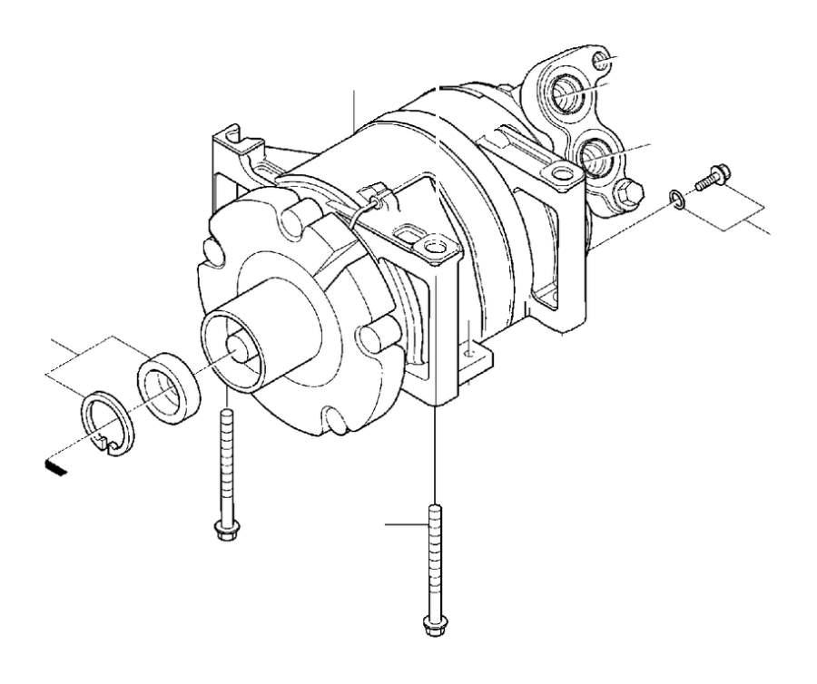 Volvo S40 Spacer Screw. Compressor. M10. Interior, Body