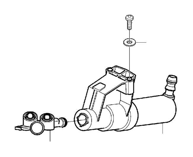 Volvo V50 Headlight Washer Nozzle. Headlight wipe/wash Kit