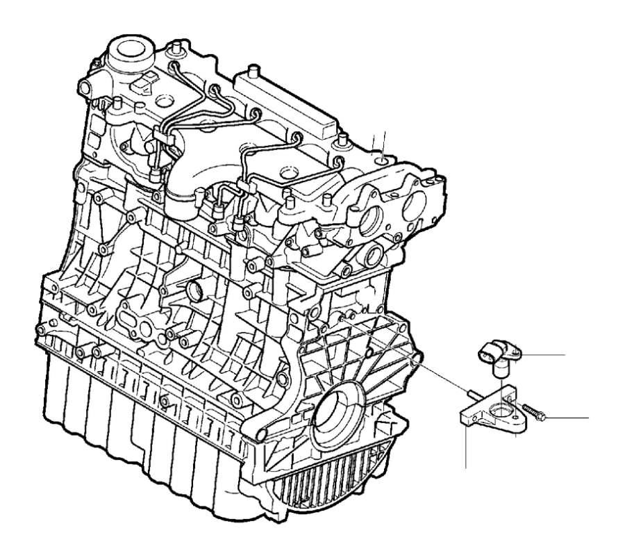 Volvo C70 Engine Crankshaft Position Sensor Bracket