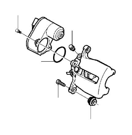 Volvo V60 Disc Brake Caliper Guide Pin Bolt. Disc Brake