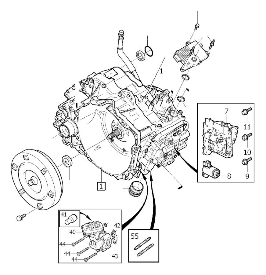 Volvo V70 Sealing. Gearbox, Automatic. Transmission