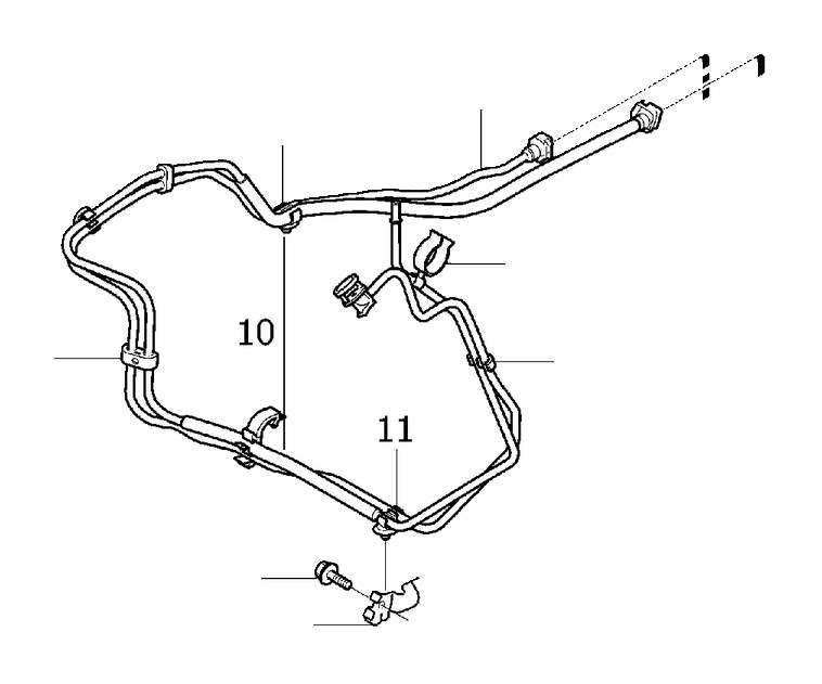 Volvo S80 Rail. Fuel Lines from Tank to Engine. Variant