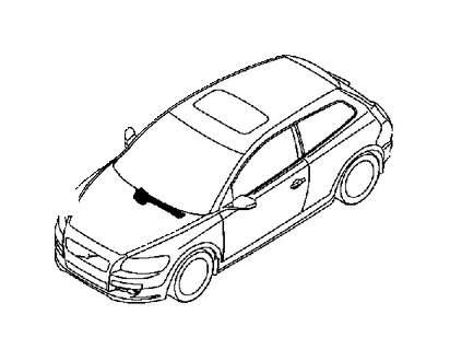 Volvo V50 Windshield Wiper Motor. Wiper Mechanism