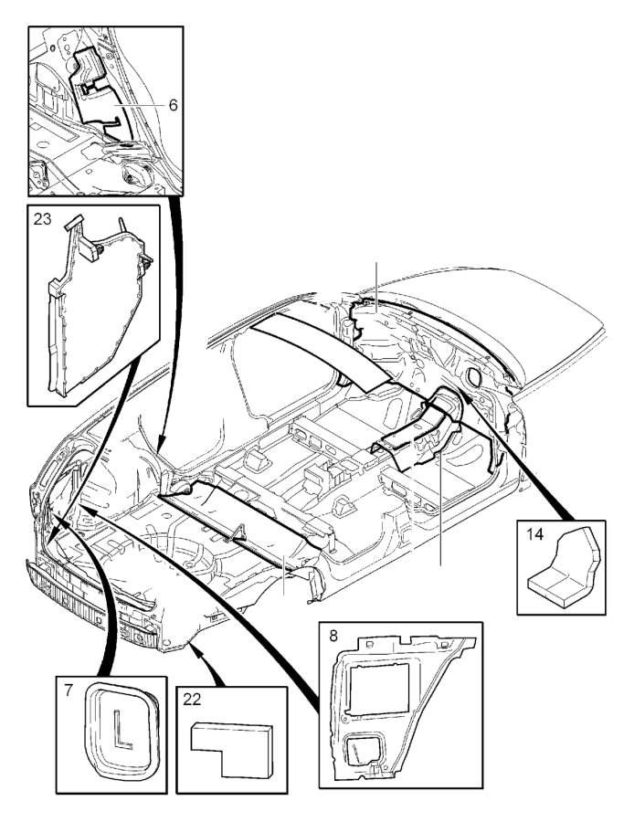Volvo S40 Isolation. Automatic Gearbox. Bulkhead. Cabin