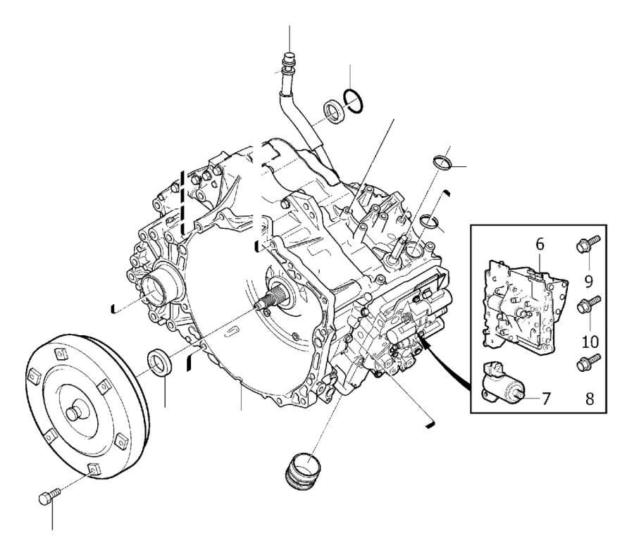 Volvo S80 Flange Screw. Automatic Transmission. M6x21. EXC
