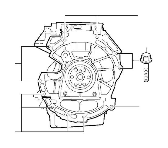 Volvo S80 Flange screw. Catalytic, Engine, Converter