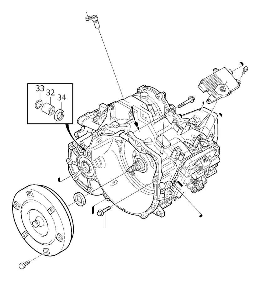Volvo C70 Vehicle Speed Sensor. Transmission, Automatic
