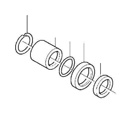 Volvo V70 Manual Transmission Output Shaft Seal. Sealing
