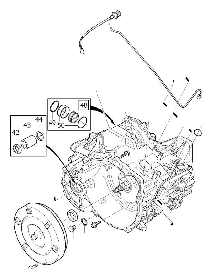 Volvo S80 Sensor kit. Automatic, Transmission, Speedometer