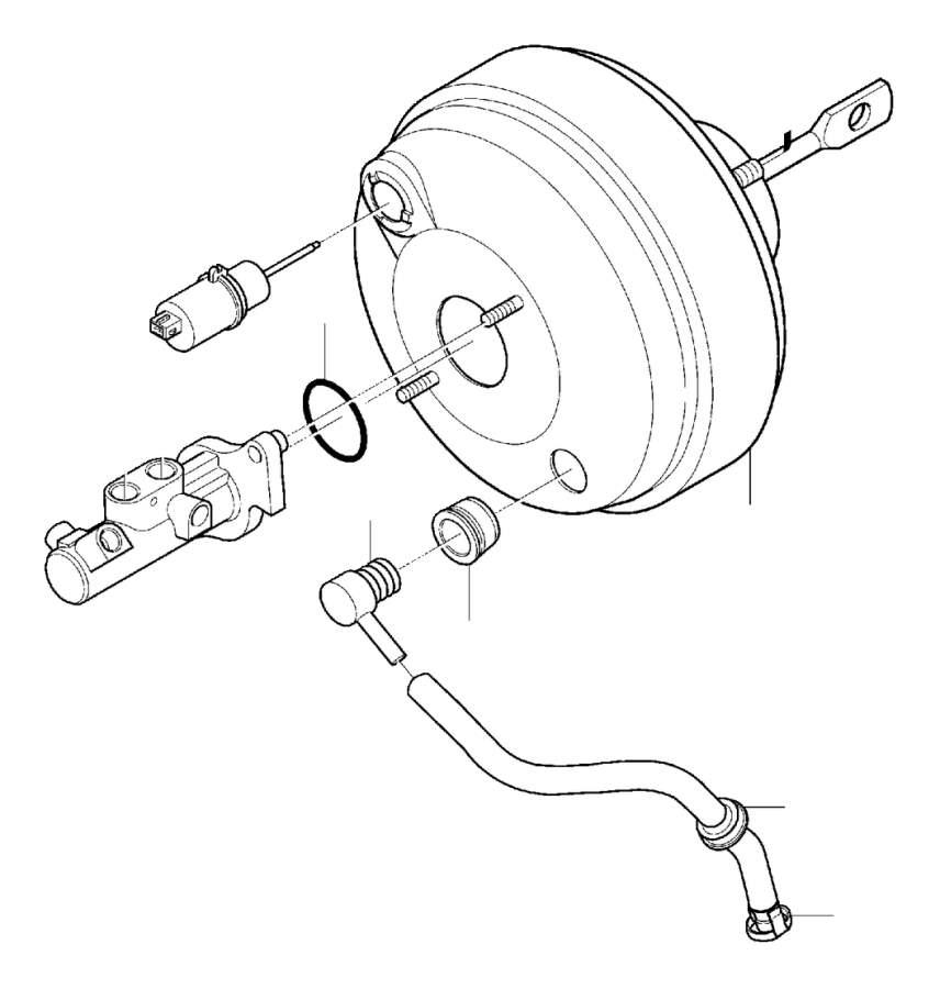 Volvo XC90 Hose. Master Cylinder, Power Brake Booster
