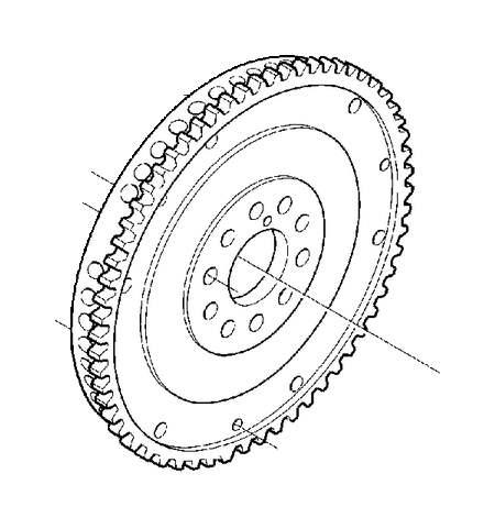 Volvo V70 Clutch Flywheel (Engine 4281799). Crank