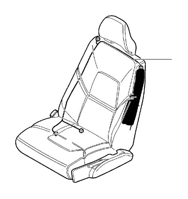 Volvo S80 Cable Harness, Seat. Subframe For Seat, Manual