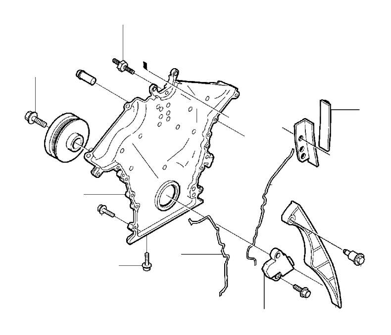Volvo S80 Engine Timing Cover Gasket (Upper). 8CYL