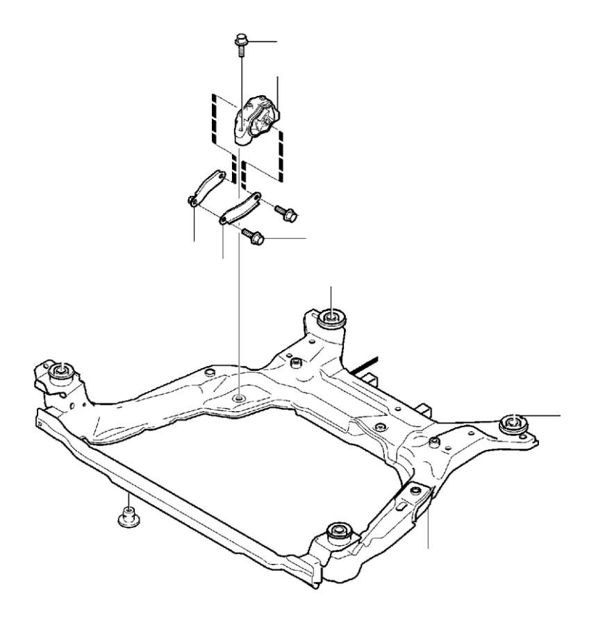 Volvo XC60 Engine Mount Bracket. Stay. Engine Mountings