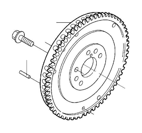 Volvo S80 Clutch Flywheel. Mechanism, Crank, TURBO