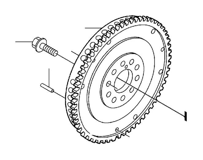 Volvo V70 Clutch Flywheel (Engine 4281799). Crank