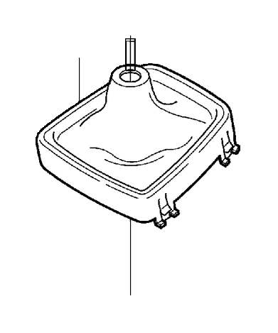 Volvo V70 XC Boot. Brush Holder 18. Gearshift. LHD. Manual