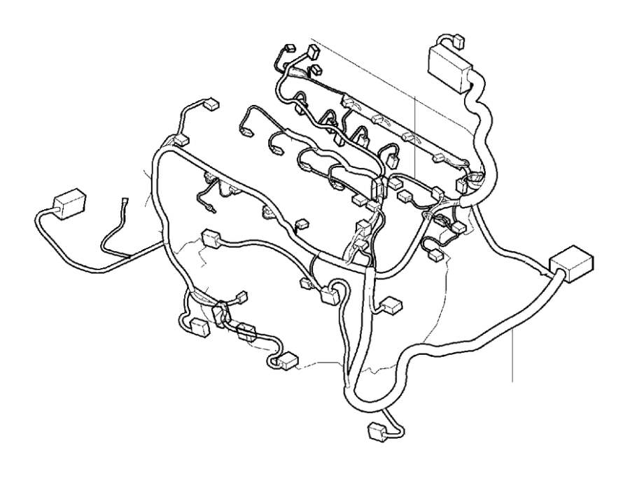 Volvo XC90 Cable Harness Engine. Part Wiring. Camshaft. CH