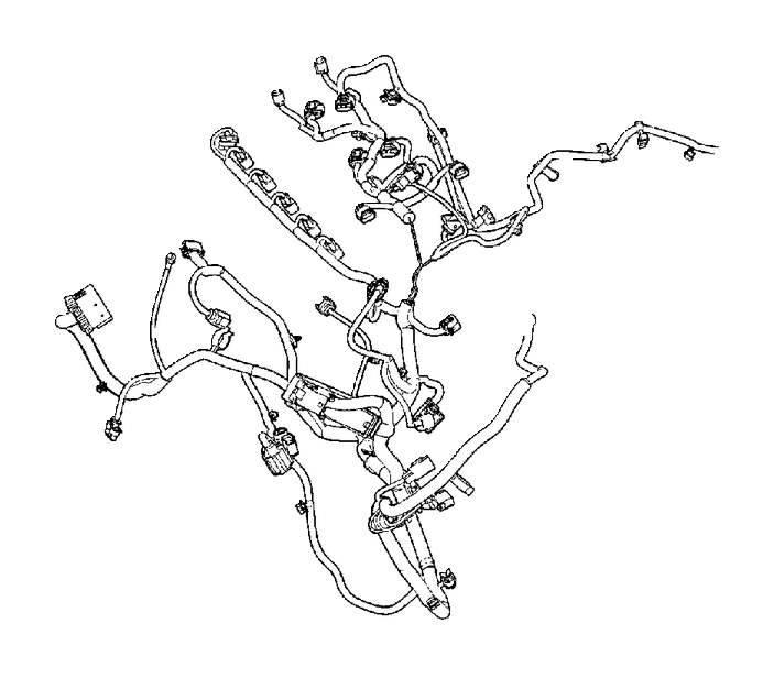 Volvo XC60 Wiring Harness. Cable Harness Engine. B6324S4