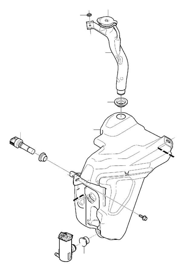 Volvo V70 Windshield Washer Pump. Equipment, Front, Fluid