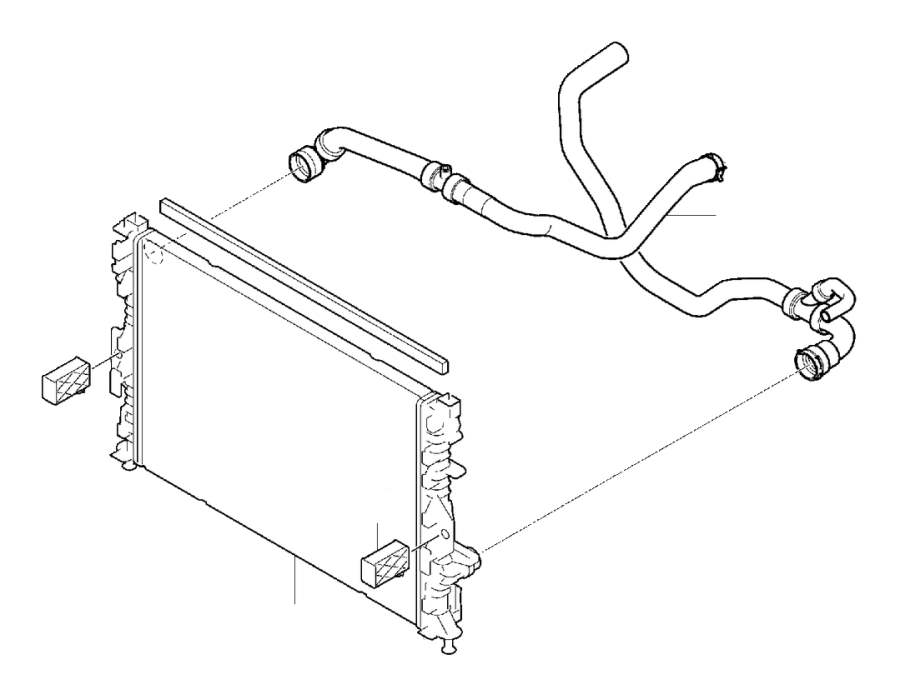 Volvo V60 Cross Country Radiator. Connections, Manual