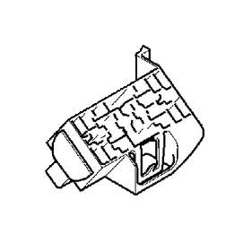 Volvo V70 Relay Retainer. Relay and Fuse Box Engine