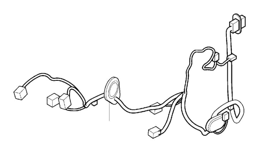 Volvo S80 Wiring Harness. Cable Harness Door. (Left, Rear