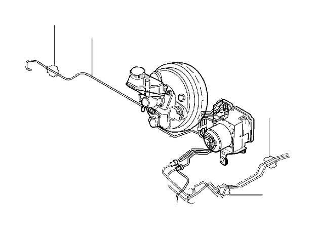 Volvo XC60 Clip. B4154T4. B4154T5. B4204T19. Brake Line