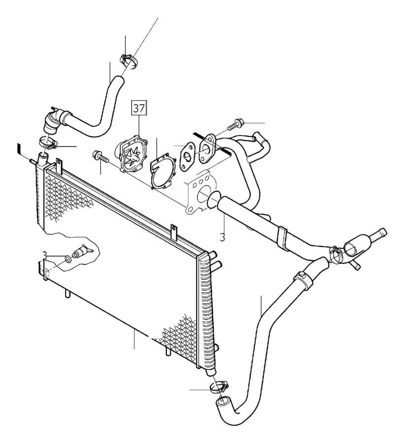 Volvo V40 Radiator Coolant Hose (Upper). RADIATOR HOSE
