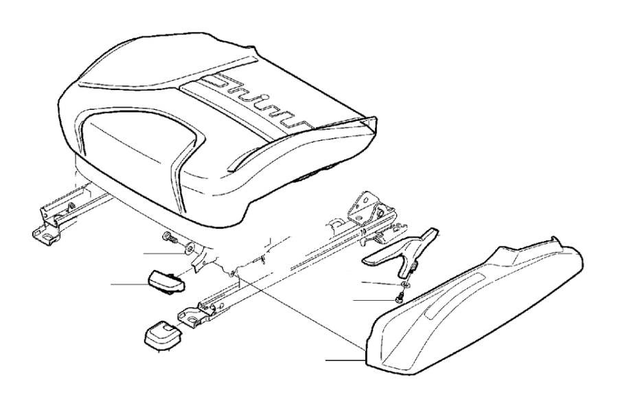 Volvo S80 Seat Back Recliner Adjustment Handle. Handle