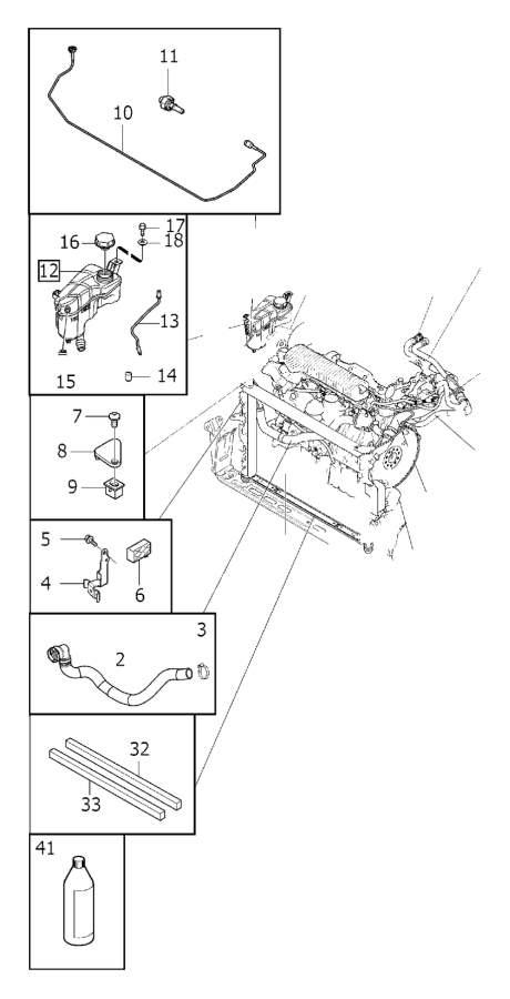 Volvo XC60 Engine Coolant Overflow Hose. FC 22. FC 25