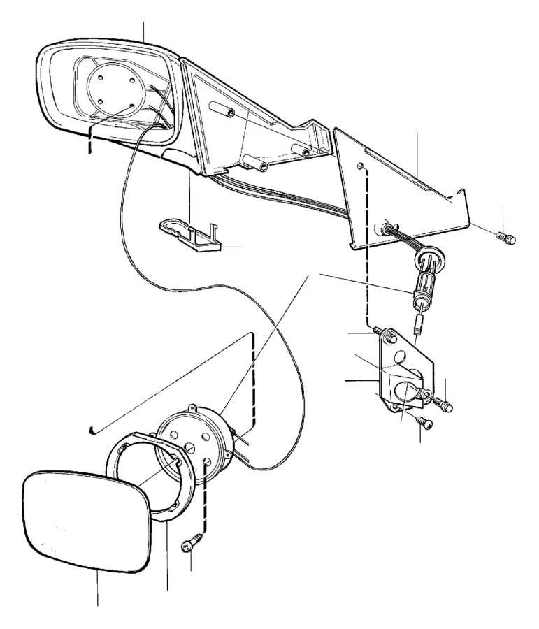 Volvo 760 Bracket. Door Mirrors, Manual. Rear View Mirror