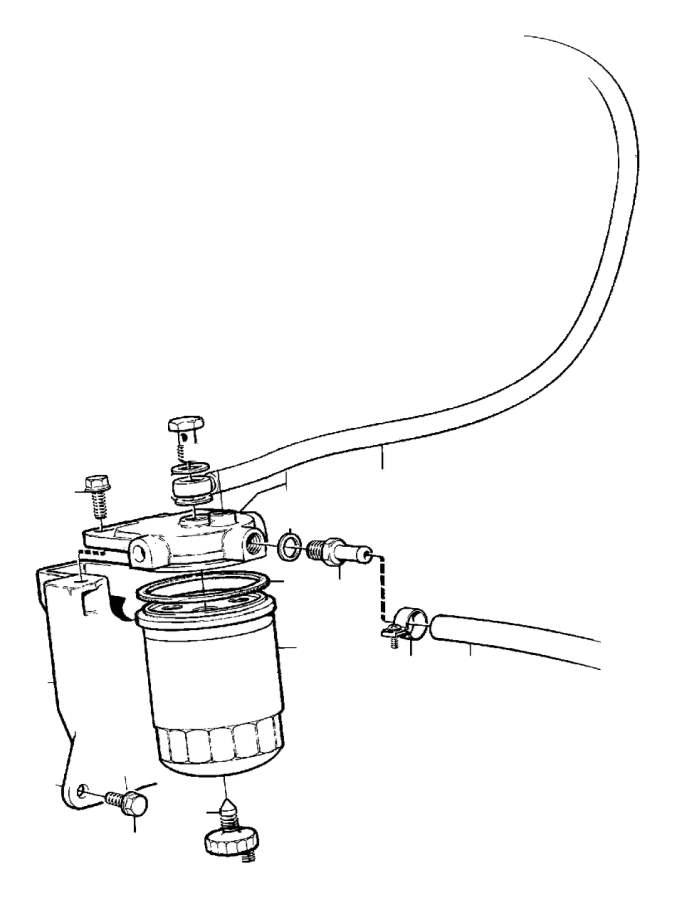 Volvo 740 Fuel Water Separator Filter. FUEL FILTER. D20