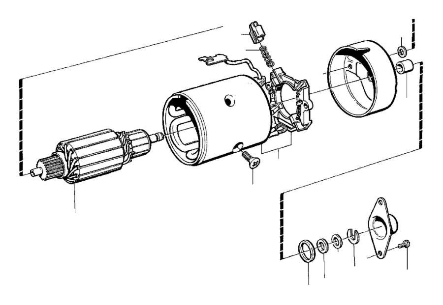Volvo 240 Screw. BOSCH 2.2kW. DSL, BOSCH. Starter Motor